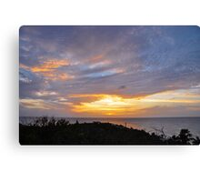Cloudshow #11 - Sunset from La Olivier Canvas Print