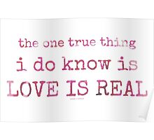 love is real~ Poster