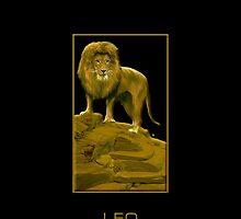 The Leo Zodiac Emblem by Vy Solomatenko