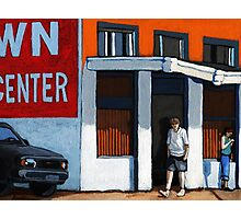 On the Street - colorful city scene Photographic Print