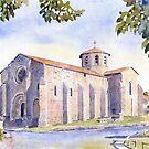 The church at Bussière-Badil, France by ian osborne