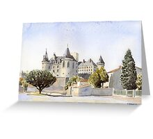 Château at La Rochefoucauld, France Greeting Card