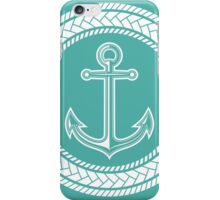 Anchor inside of ropes iPhone Case/Skin