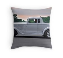 1934 Plymouth 'Casper' Coupe  Throw Pillow