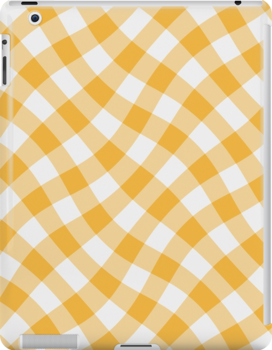 Wibbly wobbly yellow gingham by stuwdamdorp