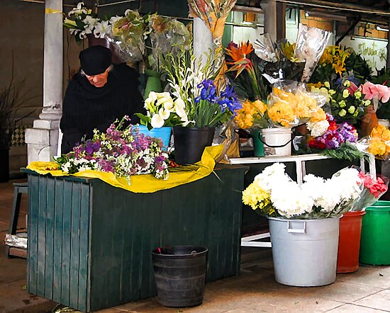 Fresh Flowers - OPorto, Portugal by T.J. Martin