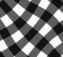 Wibbly wobbly black gingham Sticker