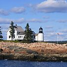 Winter Harbor Lighthouse by Monnie Ryan