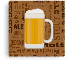 Types of Beer  Canvas Print