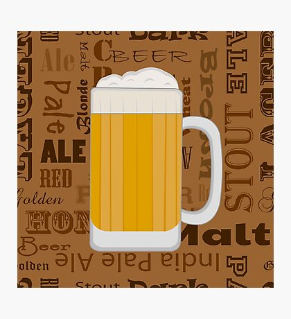 Types of Beer  Photographic Print