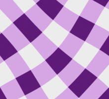 Wibbly wobbly lilac gingham Sticker