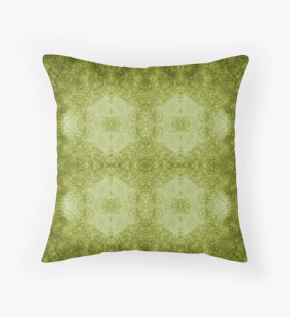 Designer textiles-Pseudo Pompous Baroque : Mediterranean Olive Filigree Tribute Throw Pillow