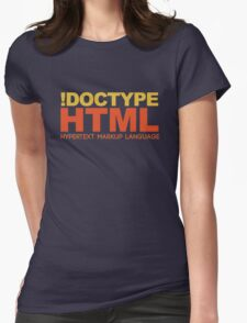 HTML Womens Fitted T-Shirt