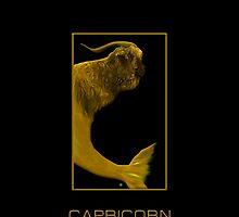 The Capricorn Zodiac Emblem by Vy Solomatenko