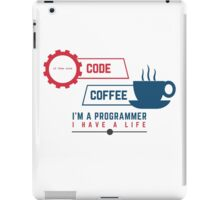 programmer : coffee and code iPad Case/Skin