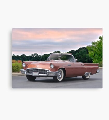 1957 Ford Thunderbird 'Copper Penny' Canvas Print