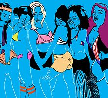 Blue Girl Group by Manuel Guardado