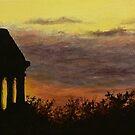 gazebo sunset by Dan Wagner