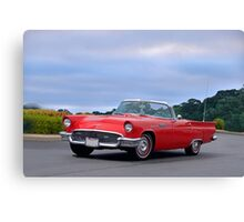 1957 Ford Thunderbird 'Cardinal' Canvas Print