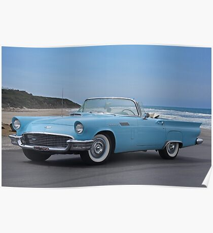 1957 Ford Thunderbird 'Blue Baby' Poster