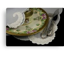 Dining on Memories of Better Days Canvas Print