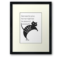 The Well-Read cat - 2 Framed Print