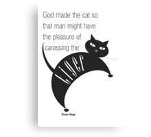 The Well-Read cat - 2 Canvas Print