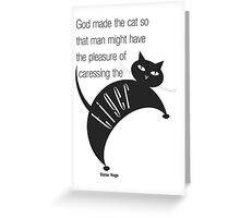 The Well-Read cat - 2 Greeting Card