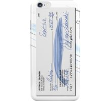 Lebowski's check iPhone Case/Skin