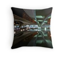 Bridges reflected in the CAC Throw Pillow