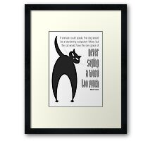The Well-Read cat - 3 Framed Print