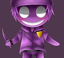 Chibi Purple guy by ShinyhunterF