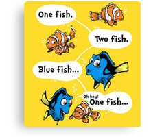 One Fish, Blue Fish Canvas Print