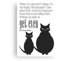 The Well-Read cat - 5 Canvas Print