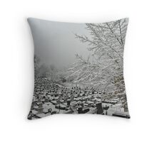 Winter Graveland Throw Pillow