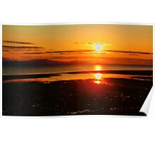 """Morning Fire- Qualicum Bay, British Columbia, Canada"" Poster"
