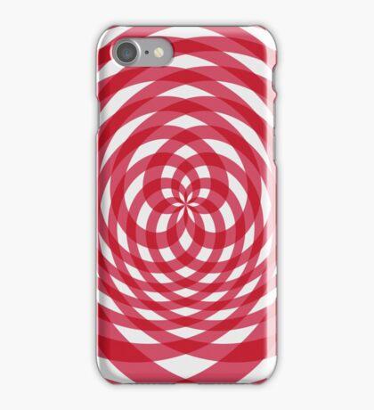 Kaleidoscope effect gingham red iPhone Case/Skin
