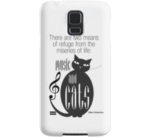 The Well-Read cat - 8 Samsung Galaxy Case/Skin