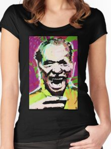 Charles Bukowski. The Wooden Butterfly. Women's Fitted Scoop T-Shirt