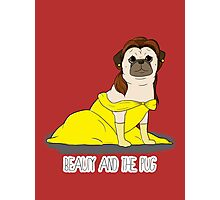 Beauty and the Pug Photographic Print