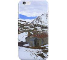 Bernina Train on the Bernina Pass..  iPhone Case/Skin