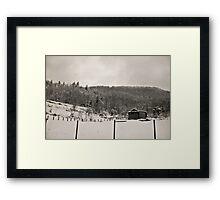 Somewhere Snowed In Time Framed Print