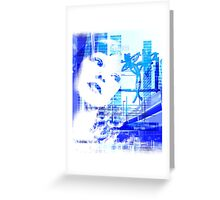 Blue city life Greeting Card