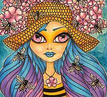"""Bees"" by DrawingsInBloom"