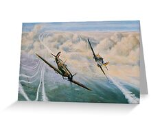 B of B - Spitfire and Me109  Greeting Card