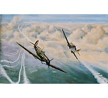 B of B - Spitfire and Me109  Photographic Print