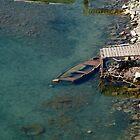 sunken boat near Dubrovnik, Croatia by John  McCoy