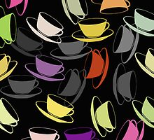 Flying Cups and Saucers by simpsonvisuals