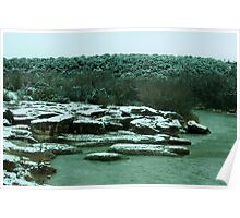 The Year's Only Snowfall in Glen Rose, Texas Poster