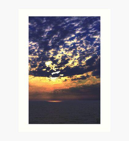 Threatening sky in the evening. Art Print